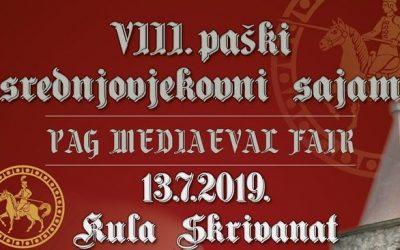 VIII. paški srednjovjekovni sajam, 13. VII. 2019.